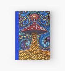 trippy mushroom Hardcover Journal