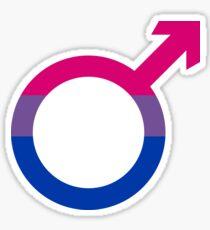Bisexual Pride Male Symbol Sticker