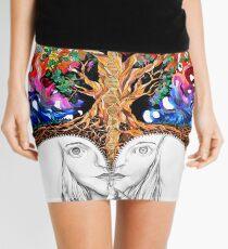Unzipped Mini Skirt
