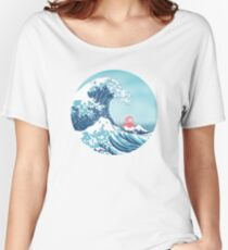 Ponyo and the great wawe (best version) Women's Relaxed Fit T-Shirt