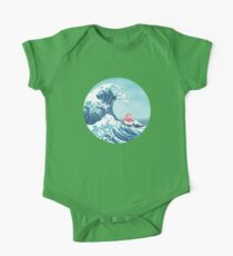 Ponyo and the great wawe (best version) One Piece - Short Sleeve