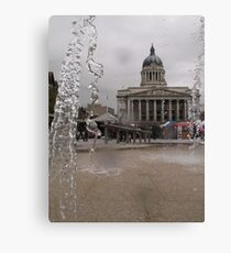 Through the fountain Canvas Print