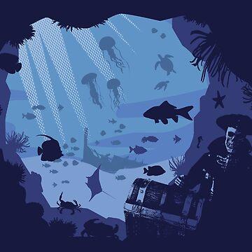 Pirate's life skeletone tresor werck by KokoBlacsquare