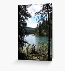 Maligne View Greeting Card