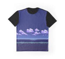 Pokemon Pixel Art 8 Bit Landscape Night Graphic T-Shirt