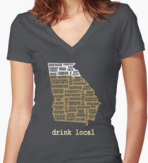 Drink Local - Georgia Beer Shirt Women's Fitted V-Neck T-Shirt
