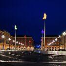 Nice, France - Place Massena Blue Hour  by Georgia Mizuleva