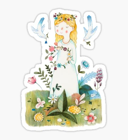 Spring Is Coming Sticker