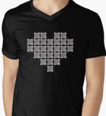 The cube is love, the cube is life -black- Mens V-Neck T-Shirt