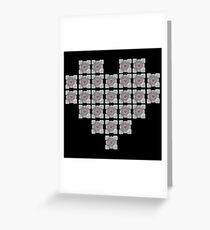 The cube is love, the cube is life -black- Greeting Card