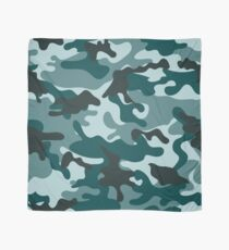 Turquoise Camouflage pattern Scarf