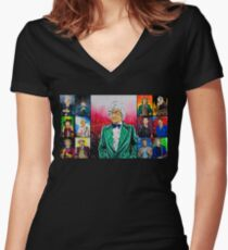 The Doctor of the Universe - The Dandy Women's Fitted V-Neck T-Shirt