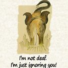 Funny message:I'm just ignoring you! by Deepthi  Horagoda