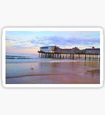 Old Orchard Beach Pier Sticker
