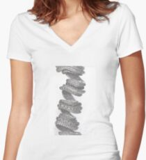 NARWAL-Spirale Women's Fitted V-Neck T-Shirt