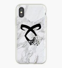 Vinilo o funda para iPhone runa angelical de mármol
