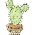 Mini Cactus by JenniferCharlee