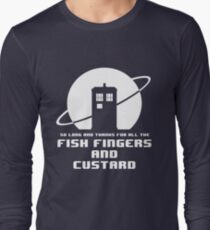Fish Fingers and Custard White Long Sleeve T-Shirt