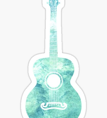 Watercolor Acoustic Guitar Sticker