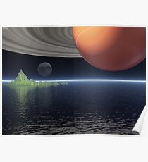 Reflections of Saturn Poster