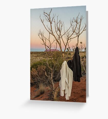 Desert Cloakroom Greeting Card