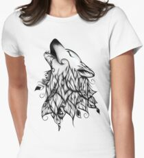The Wolf  Women's Fitted T-Shirt