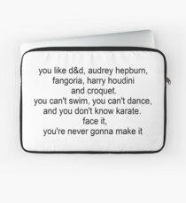 I'm Not Okay speech Laptop Sleeve
