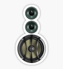 Black Speaker T-Shirt - Woofer Sticker Music Duvet Cover Sticker