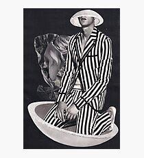 Black And White - Stripes Photographic Print