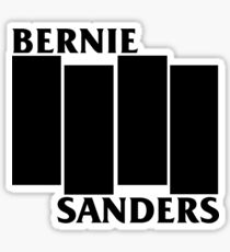 Bernie Sanders Black Flag Sticker