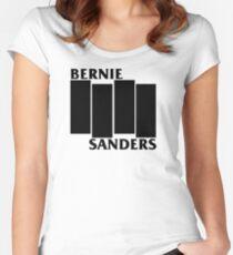Bernie Sanders Black Flag Women's Fitted Scoop T-Shirt