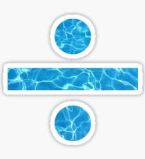Division sign (water) Sticker
