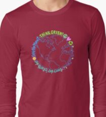 Think Green World Long Sleeve T-Shirt