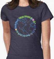 Think Green World Women's Fitted T-Shirt