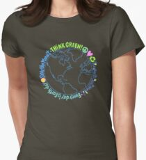 Think Green World Womens Fitted T-Shirt