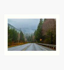 Burnt Mountain Road, Clallam County, Washington Art Print