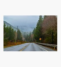 Burnt Mountain Road, Clallam County, Washington Photographic Print
