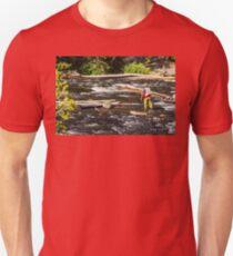 Fly Fishing In Yellowstone - 2 Unisex T-Shirt