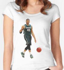 Denzel Valentine of Michigan State Women's Fitted Scoop T-Shirt