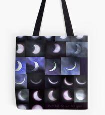 Partial Solar Eclipse Montage Tote Bag