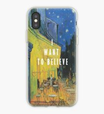 I Want To Believe - Cafe Terrace At Night iPhone Case