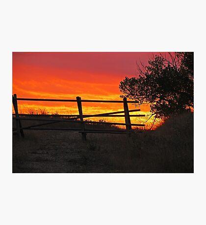Bear Butte Sunset Photographic Print