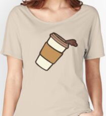 Take it Away Coffee Pattern Women's Relaxed Fit T-Shirt
