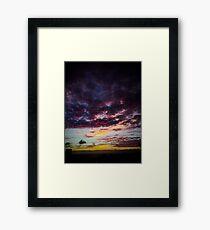 Red Sky Dawning  Framed Print