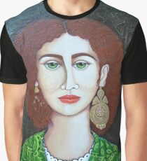 Woman with green eyes Graphic T-Shirt