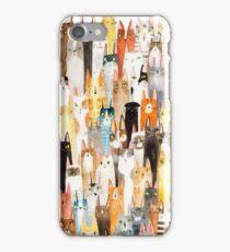 Cat Lineup iPhone Case/Skin