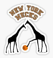 New York Necks (giraffe pattern for light-colored shirts) Sticker