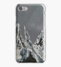 Mountains - Winter Sky iPhone Case/Skin
