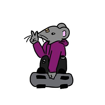 Skater Mouse- Grey by andromedakid