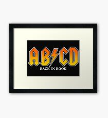 AB/CD : BACK IN BOOK Framed Print